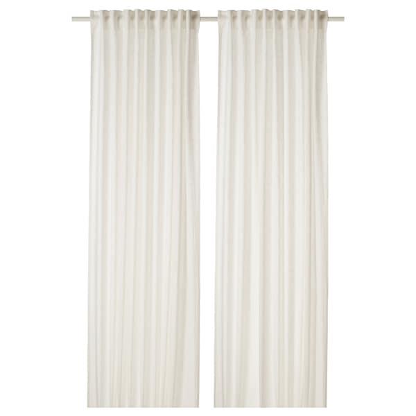"DYTÅG Curtains, 1 pair, white, 57x98 """