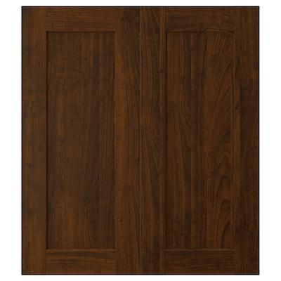 "EDSERUM 2-p door/corner base cabinet set wood effect brown 13 1/4 "" 30 "" 13 "" 29 7/8 "" 3/4 """