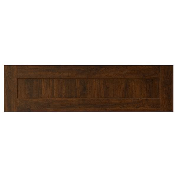 "EDSERUM Drawer front, wood effect brown, 36x10 """