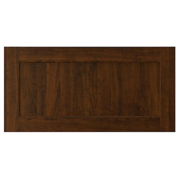 "EDSERUM Drawer front, wood effect brown, 30x15 """