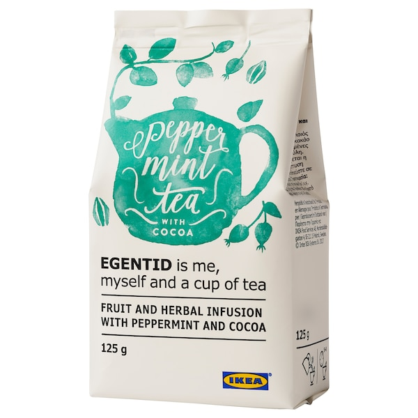 EGENTID Fruit and herbal infusion, peppermint/cocoa/UTZ certified, 4 oz