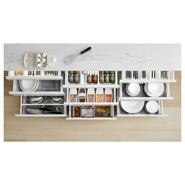 EKBACKEN Countertop, white marble effect/laminate, 74x1 1/8 ""
