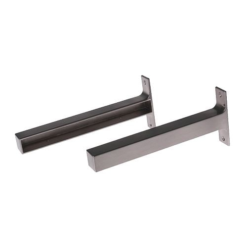 EKBY BJÄRNUM Bracket   The bracket covers the edge of the shelf.   The shelf can be cut to desired width and the cut edge will be concealed.