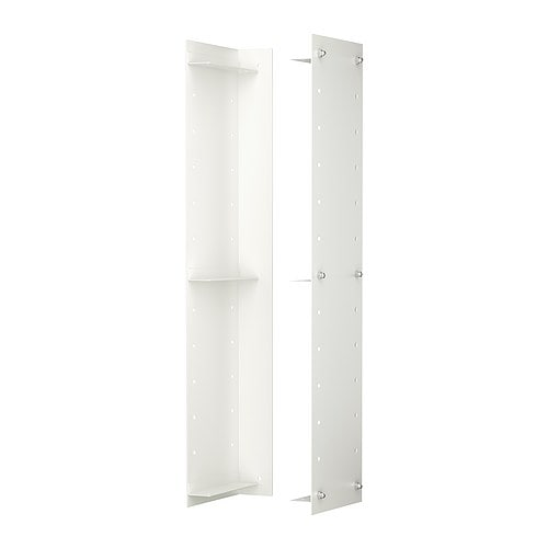 EKBY OXIE Wall side unit   Holds 3 shelves.   Create more wall storage without having to drill more holes in the wall.