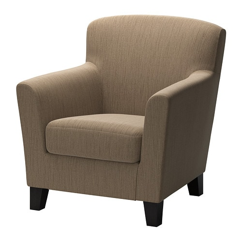 EKENÄS Armchair   The high back provides good support for your neck and head.