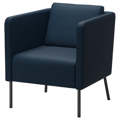 EKERÖ Armchair, Skiftebo dark blue
