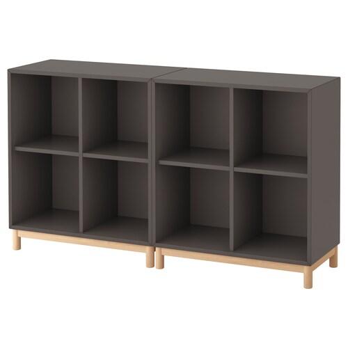 "EKET storage combination with legs dark gray 27 ½ "" 55 "" 13 ¾ "" 31 ½ """