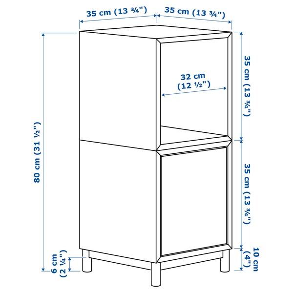 "EKET storage combination with legs dark gray 27 ½ "" 13 ¾ "" 13 ¾ "" 31 ½ """