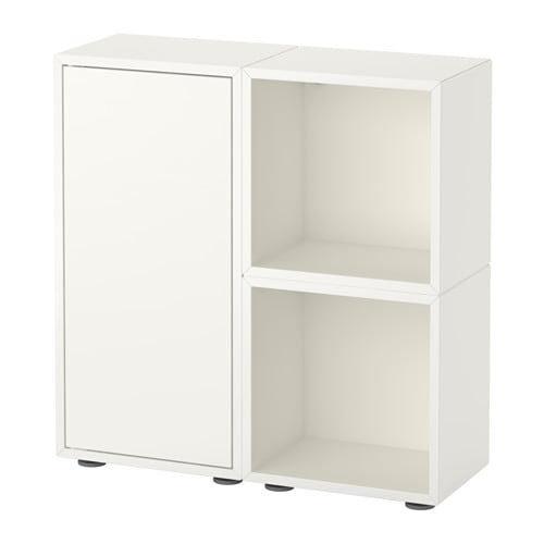 eket storage combination with feet white ikea. Black Bedroom Furniture Sets. Home Design Ideas