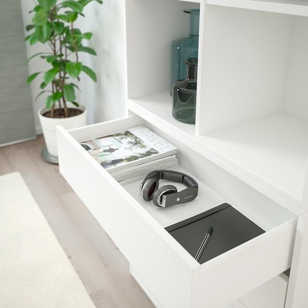 "EKET Storage combination with feet, white, 27 1/2x13 3/4x83 1/2 """