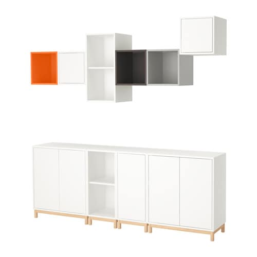 Eket Storage Combination With Legs Multicolor Ikea