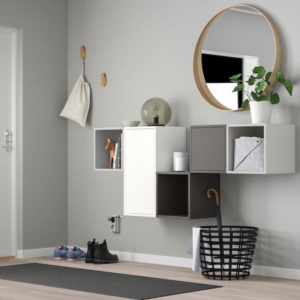 EKET Wall-mounted cabinet combination - white, light gray ...