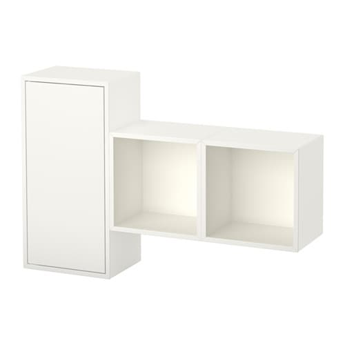 Eket wall mounted cabinet combination white ikea for Cube de rangement mural