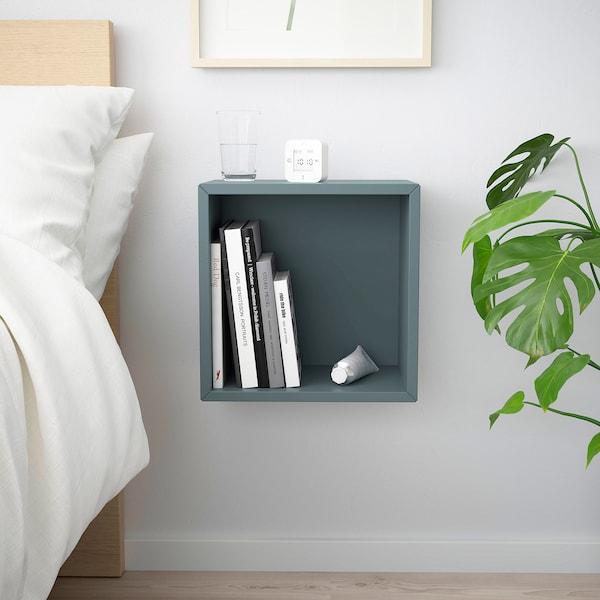 "EKET Wall-mounted shelving unit, gray-turquoise, 13 3/4x9 7/8x13 3/4 """