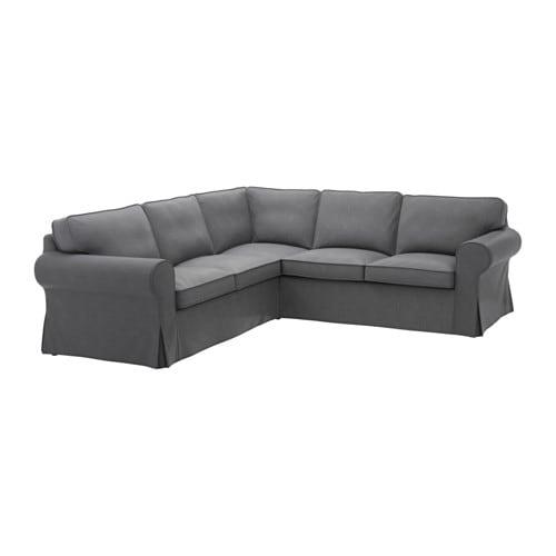 Ektorp corner sofa 2 2 nordvalla dark gray ikea - Canape angle tissu ikea ...