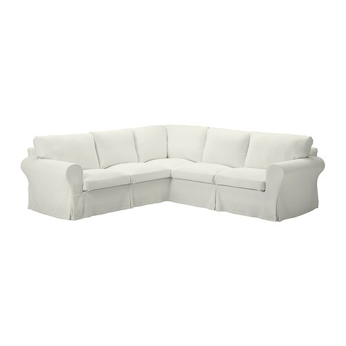 EKTORP Corner sofa 2+2   Seat cushion filled with high resilient foam and polyester fiber balls for soft seating comfort.