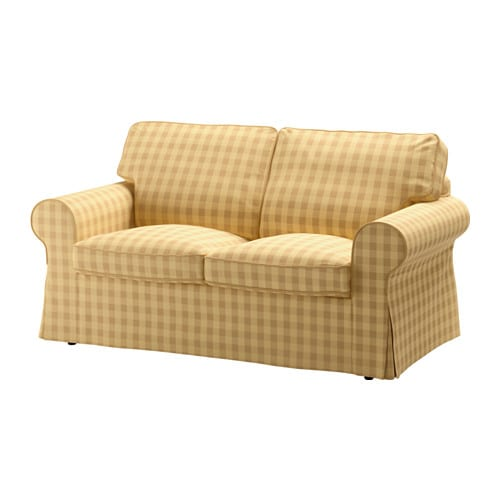 Ektorp Loveseat Cover Skaftarp Yellow Ikea