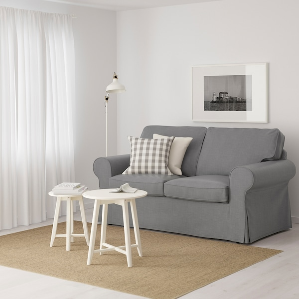 "EKTORP loveseat Nordvalla dark gray 70 1/2 "" 34 5/8 "" 34 5/8 "" 19 1/4 "" 17 3/4 """
