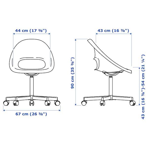 ELDBERGET / BLYSKÄR Swivel chair, beige/white