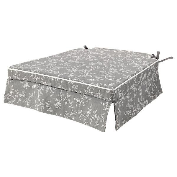 "ELSEBET Chair pad, gray, 17x17x2 """