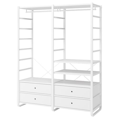 "ELVARLI 2 section shelving unit white 64 7/8 "" 21 5/8 "" 85 """