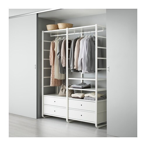 Elvarli 2 section shelving unit ikea - Ikea armoire 3 portes ...