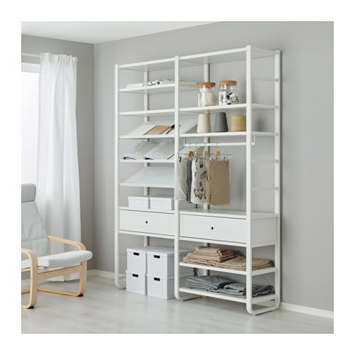 Elvarli 2 Section Shelving Unit Ikea
