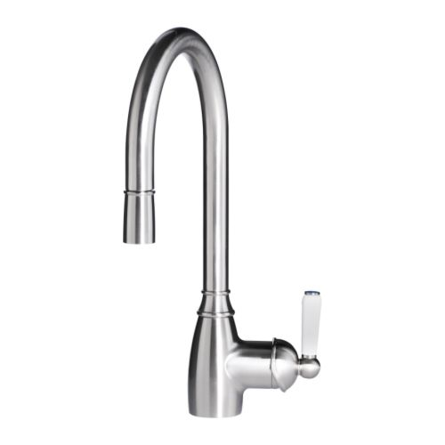 Ikea Elverdam Single Lever Kitchen Faucet Pull Out Stainless Steel Color