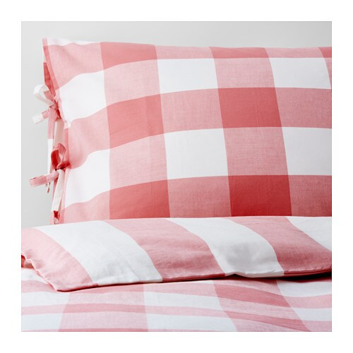 EMMIE RUTA Duvet cover and pillowcase(s)   Yarn-dyed; the yarn is dyed before weaving; gives the bedlinens a soft feel.