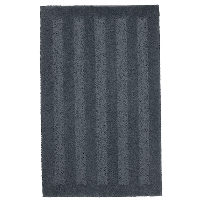 EMTEN Bath mat, dark gray, 20x32 ""