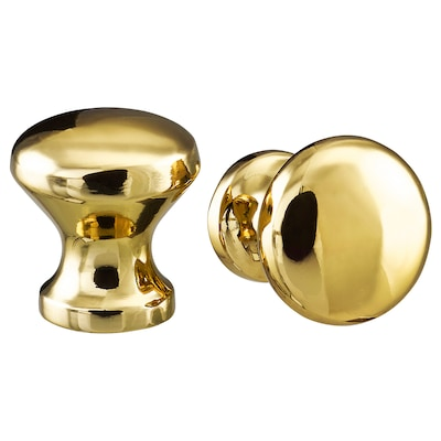 "ENERYDA Knob, brass color, 13/16 """
