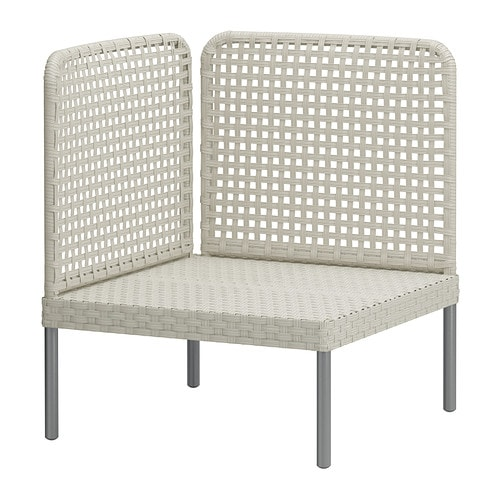 ENHOLMEN Corner section   Hand woven plastic rattan with the same expressions as natural rattan but durable for outdoor use.