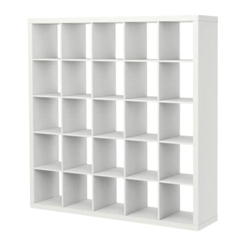 "EXPEDIT Bookcase, white Width: 72 7/8 "" Depth: 15 3/8 "" Height: 72 7/8 "" Max load/shelf: 29 lb  Width: 185 cm Depth: 39 cm Height: 185 cm Max load/shelf: 13 kg"