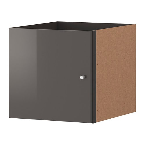 EXPEDIT Insert with door   The high gloss surfaces reflect light and give a vibrant look.  The insert is also finished on the back.