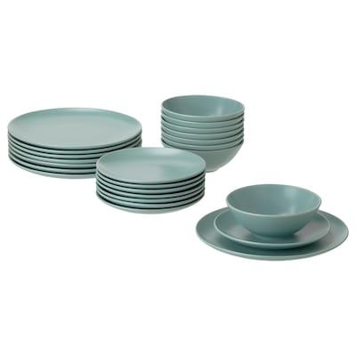 FÄRGKLAR 24-piece dinnerware set, matte light turquoise