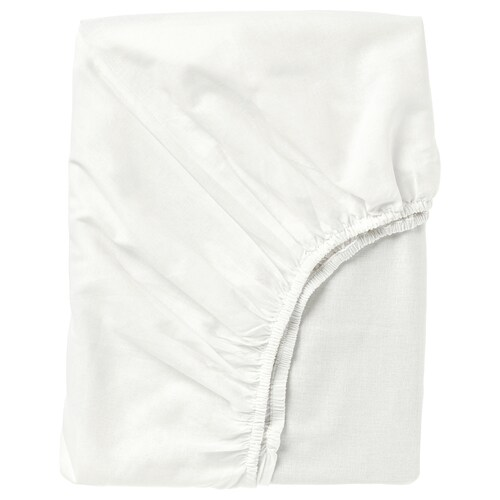 """FÄRGMÅRA fitted sheet white 104 square inches 74 """" 38 """" 10 """""""
