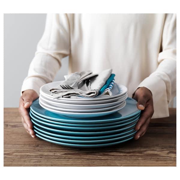 """FÄRGRIK Plate, turquoise, 11 """""""