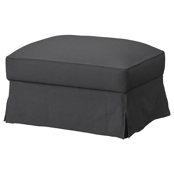 FÄRLÖV Cover for footstool with storage, Flodafors gray