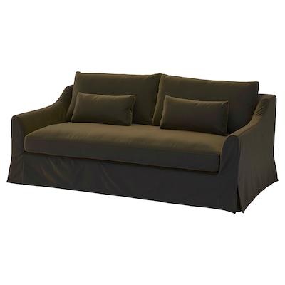 FÄRLÖV Sofa, Djuparp dark olive-green