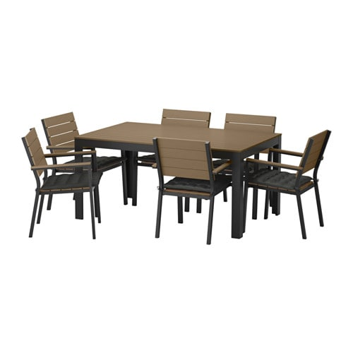 FALSTER Table+6 Armchairs, Outdoor
