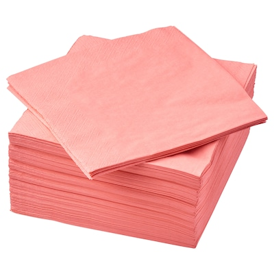 "FANTASTISK paper napkin light red pink 15 ¾ "" 15 ¾ "" 50 pack"