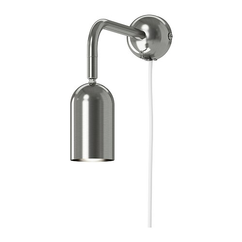 FARKOST Wall lamp   Adjustable head makes it easy to direct the light.  Directed light; gives a good concentrated beam of light for reading.