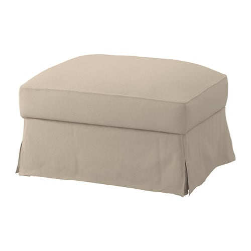 F 196 Rl 214 V Footstool With Storage Flodafors Beige Ikea