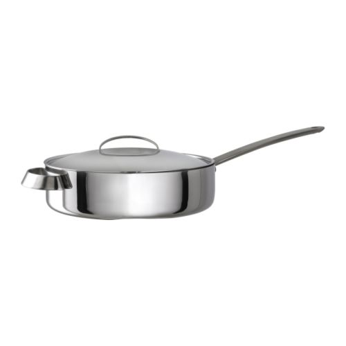 FAVORIT Sauté pan with lid   Works well on all types of cooktops, including induction cooktops.