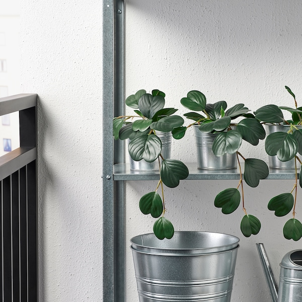 """FEJKA Artificial potted plant, indoor/outdoor hanging/Peperomia, 3 ½ """""""