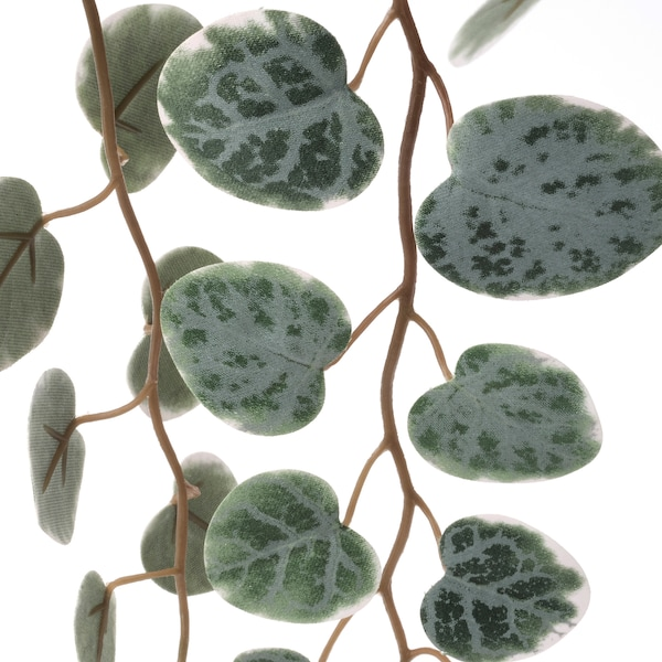 """FEJKA Artificial potted plant, indoor/outdoor hanging/String of hearts, 3 ½ """""""