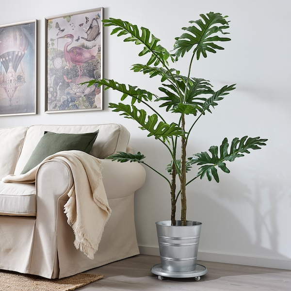 """FEJKA Artificial potted plant, indoor/outdoor philodendron, 9 """""""