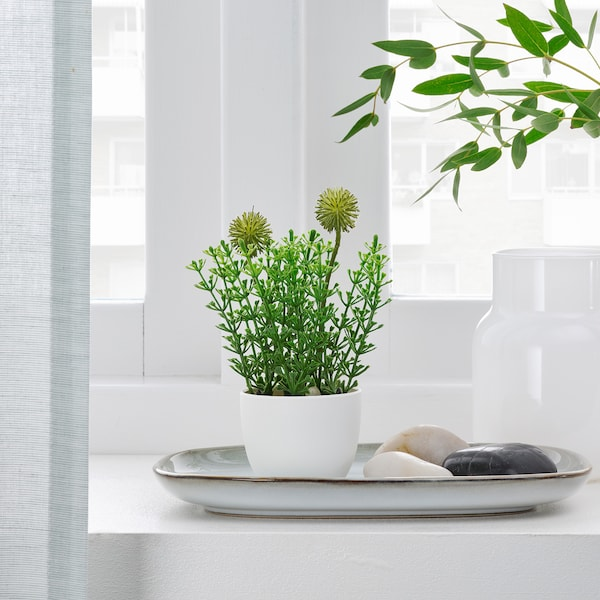 """FEJKA Artificial potted plant with pot, indoor/outdoor grass, 2 ¼ """""""