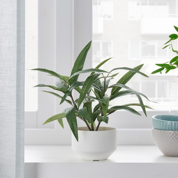 """FEJKA Artificial potted plant with pot, indoor/outdoor Nerium, 3 ½ """""""