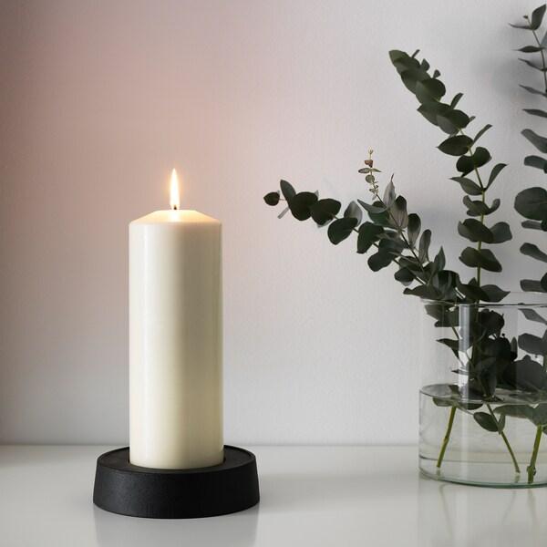 "FENOMEN unscented block candle natural 11 ½ "" 3 ¾ "" 95 hr"